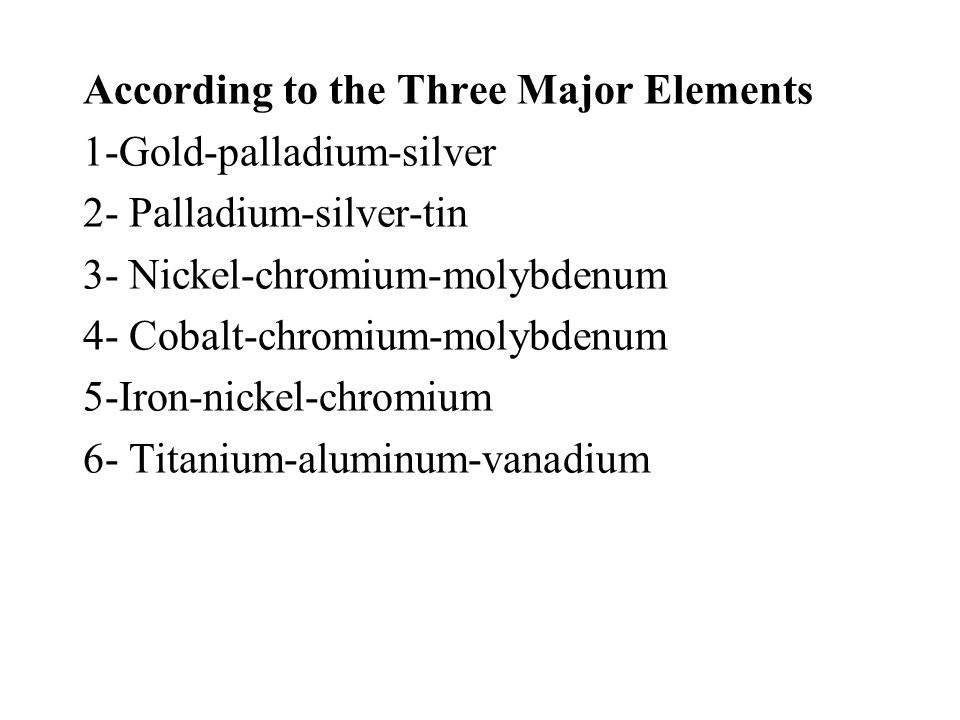 According to the Three Major Elements