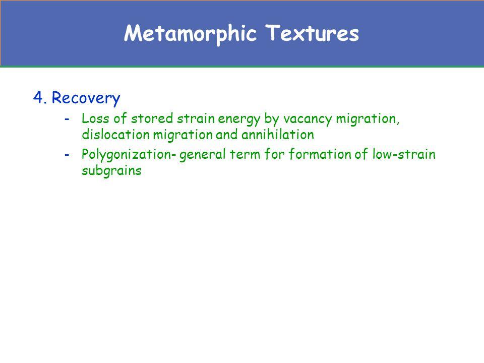 Metamorphic Textures 4. Recovery