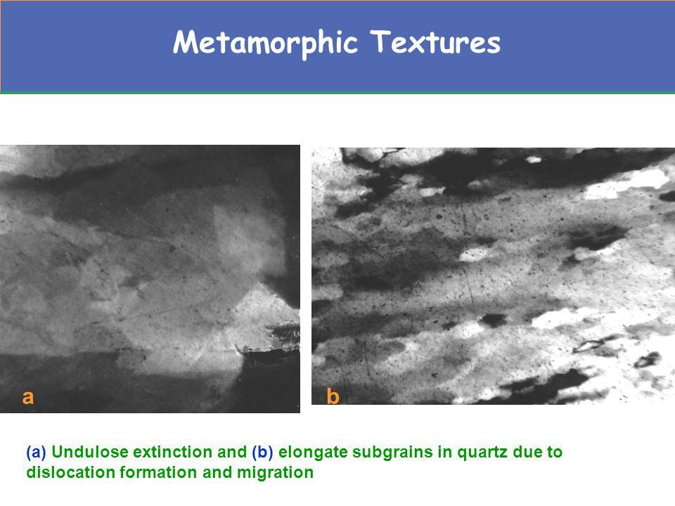 Metamorphic Textures a b