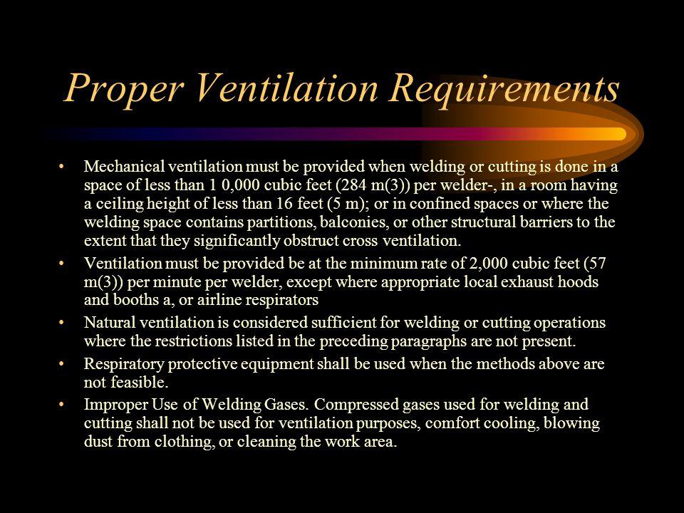 Proper Ventilation Requirements
