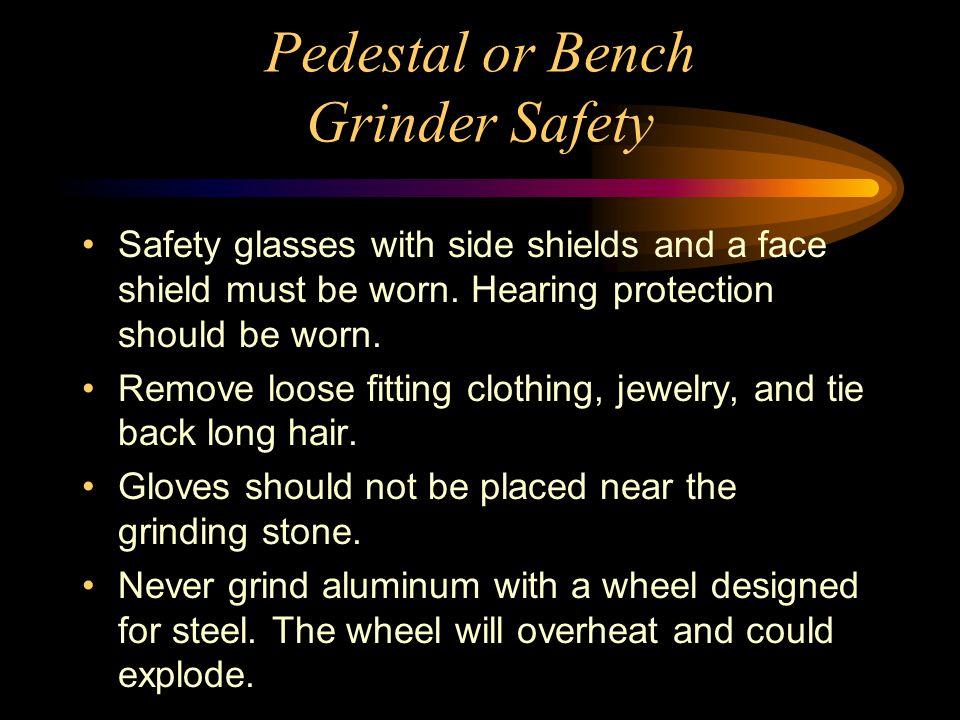 Bench Grinder Safety Scale Part - 17: 50 Pedestal Or Bench Grinder Safety