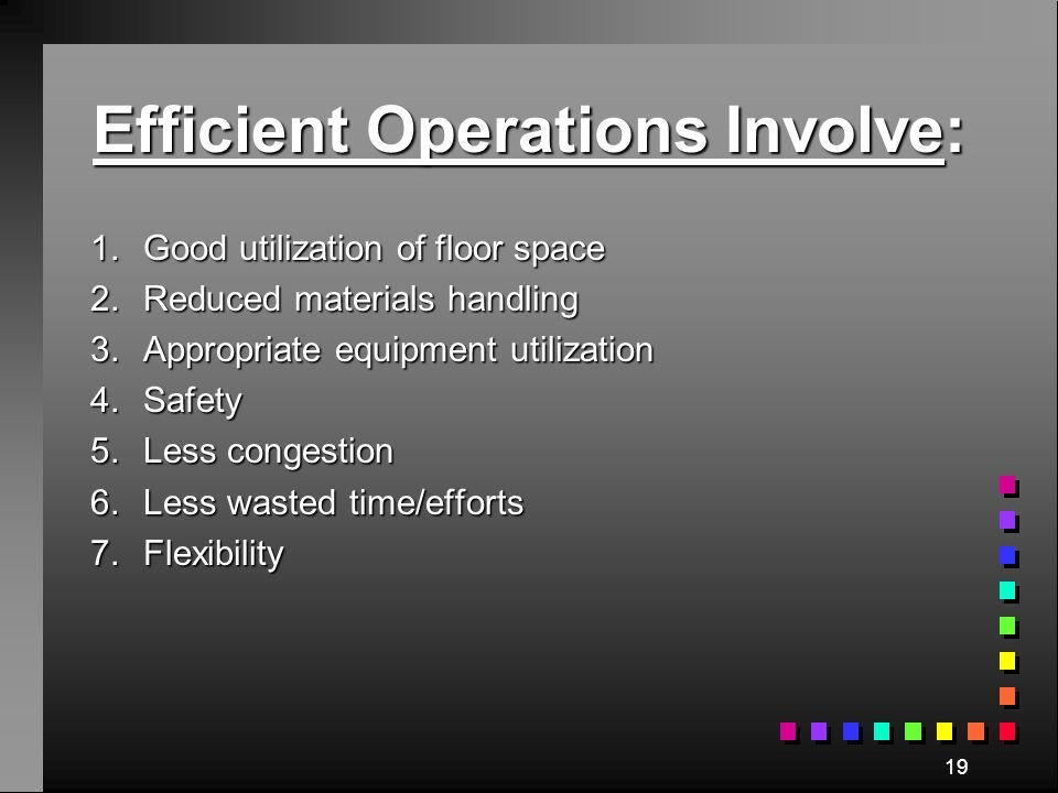 Efficient Operations Involve: