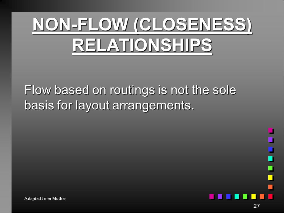 NON-FLOW (CLOSENESS) RELATIONSHIPS