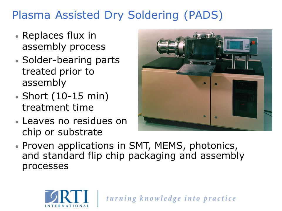 Plasma Assisted Dry Soldering (PADS)