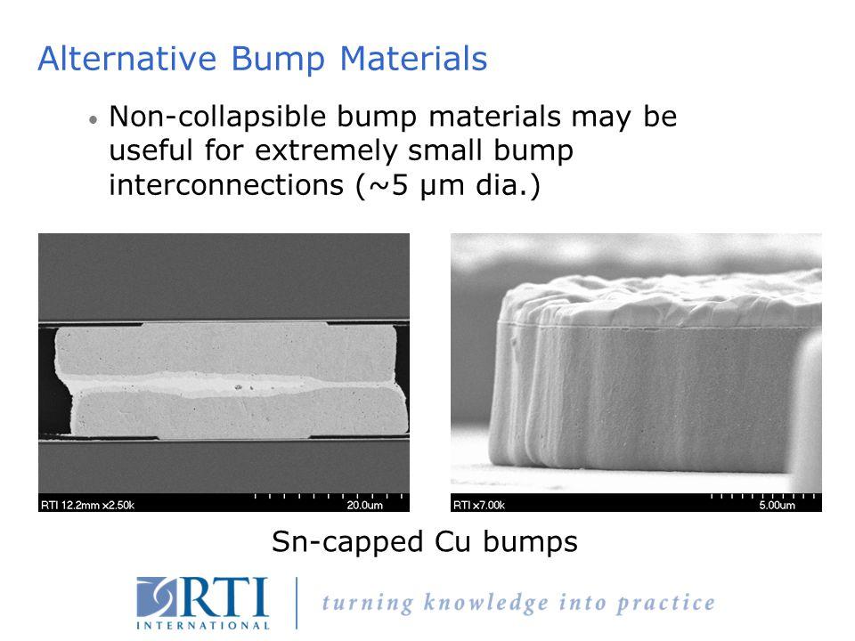 Alternative Bump Materials
