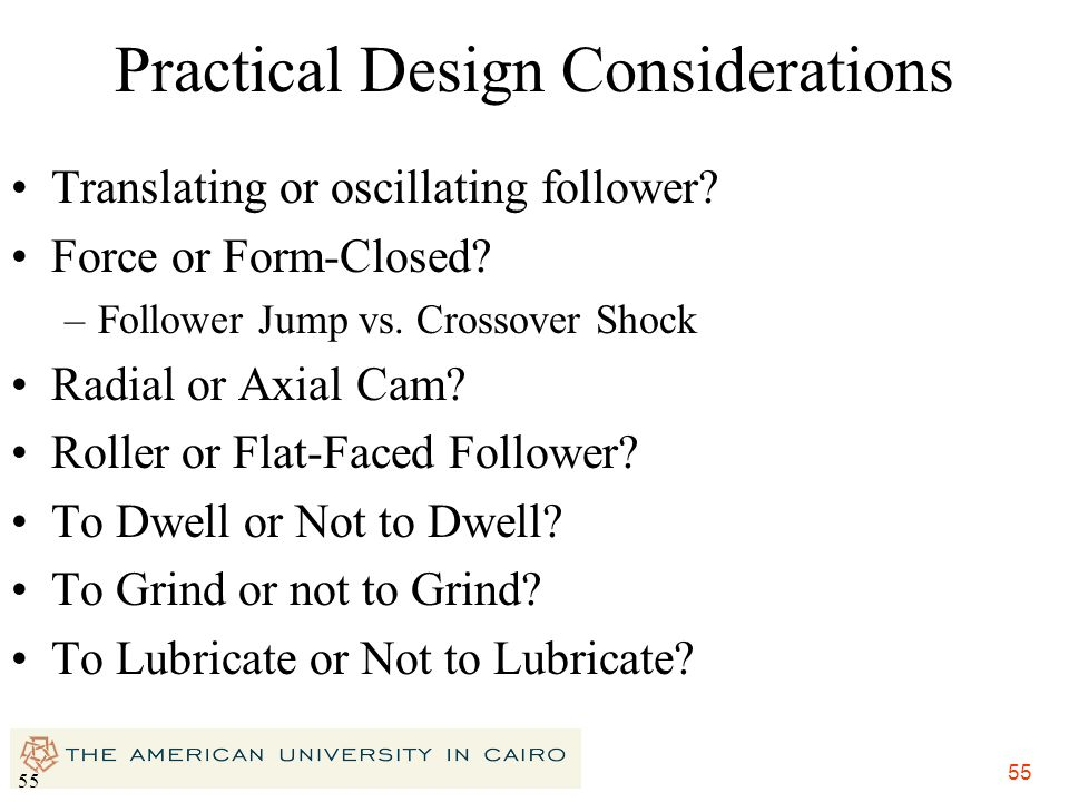 Practical Design Considerations