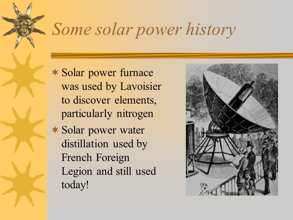 Some solar power history