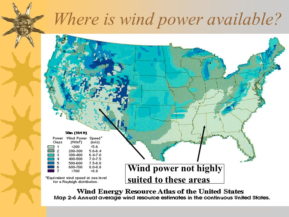 Where is wind power available