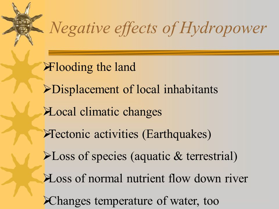Negative effects of Hydropower