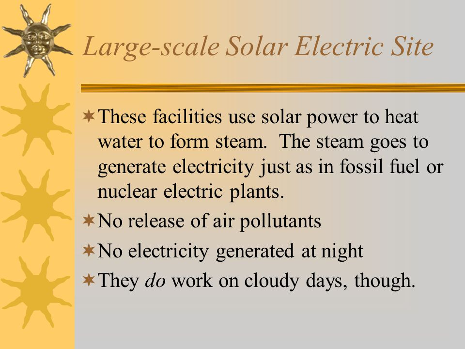 Large-scale Solar Electric Site
