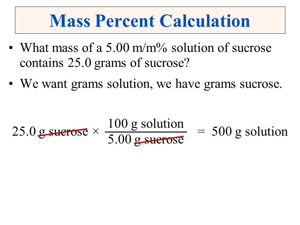 Mass Percent Calculation