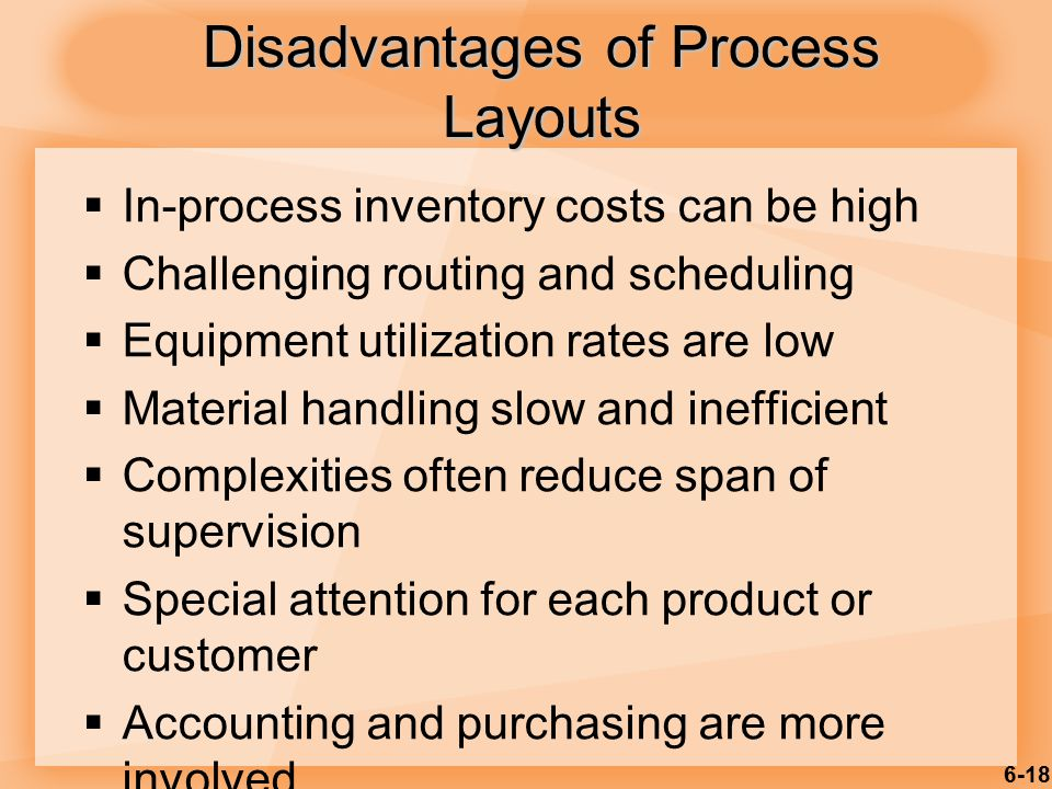 Disadvantages of Process Layouts