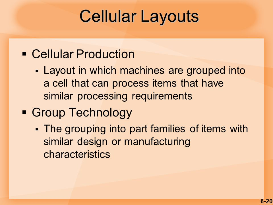 Cellular Layouts Cellular Production Group Technology