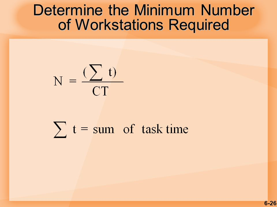 Determine the Minimum Number of Workstations Required