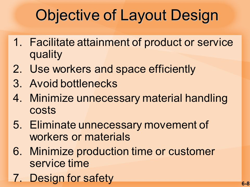 Objective of Layout Design