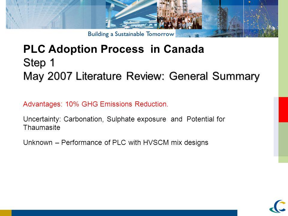 PLC Adoption Process in Canada Step 1