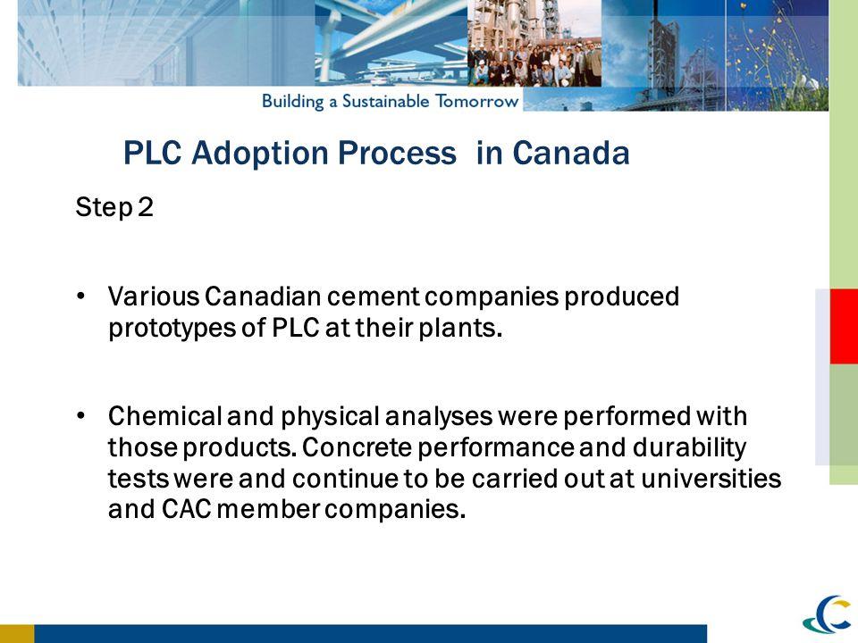 PLC Adoption Process in Canada