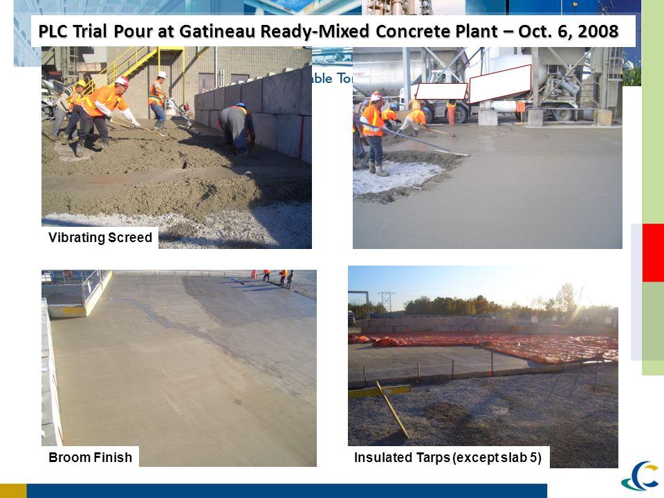 PLC Trial Pour at Gatineau Ready-Mixed Concrete Plant – Oct. 6, 2008