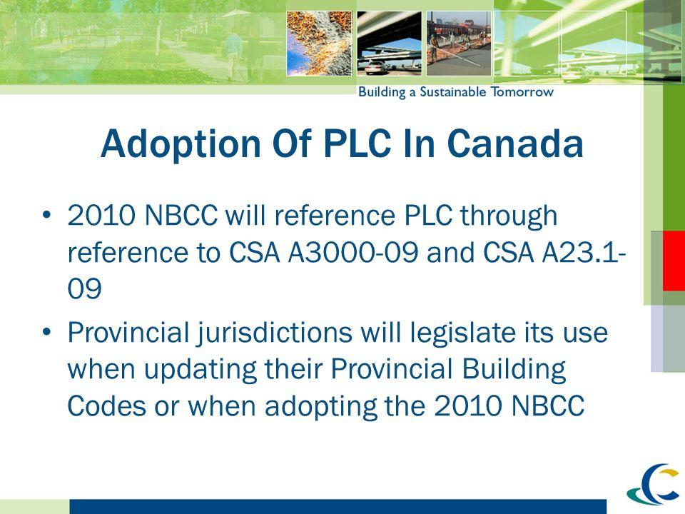 Adoption Of PLC In Canada