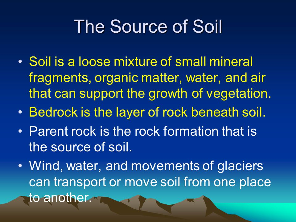 Mechanical weathering ppt video online download for What is soil a mixture of