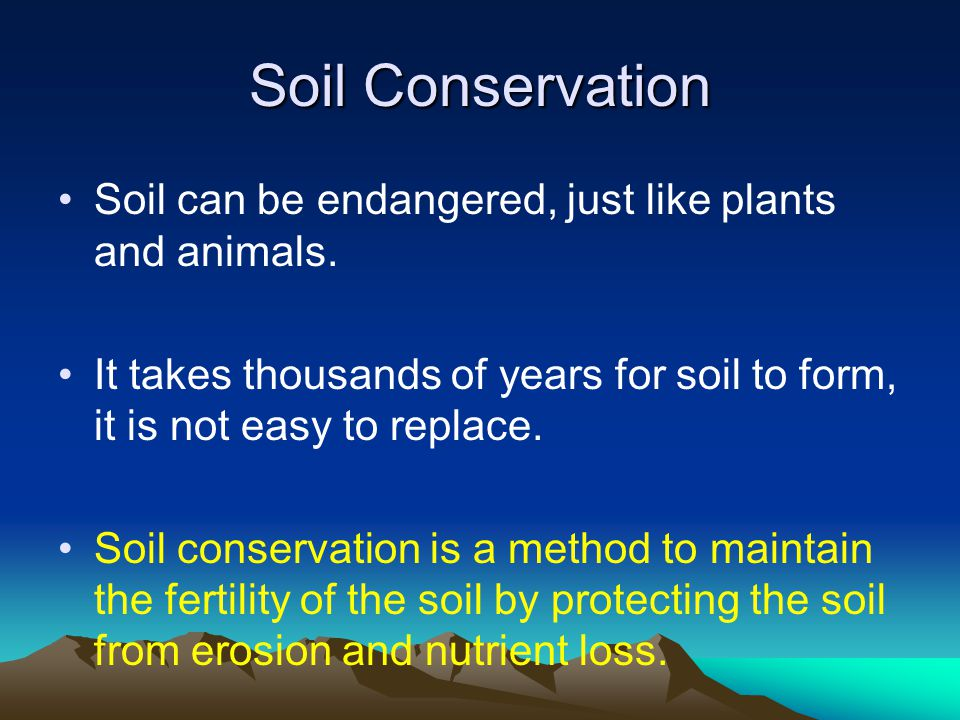Mechanical weathering ppt video online download for Soil conservation act