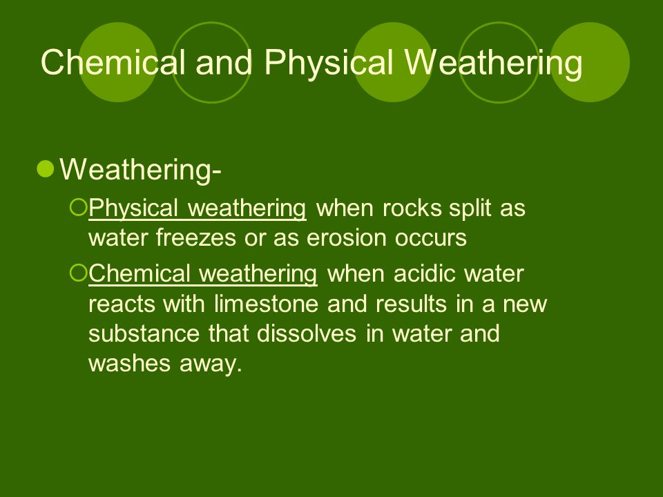 Chemical and Physical Weathering