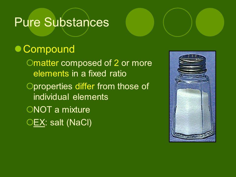 Pure Substances Compound