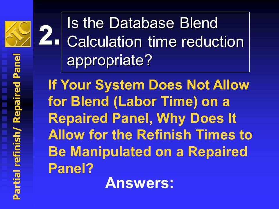 Partial refinish/ Repaired Panel