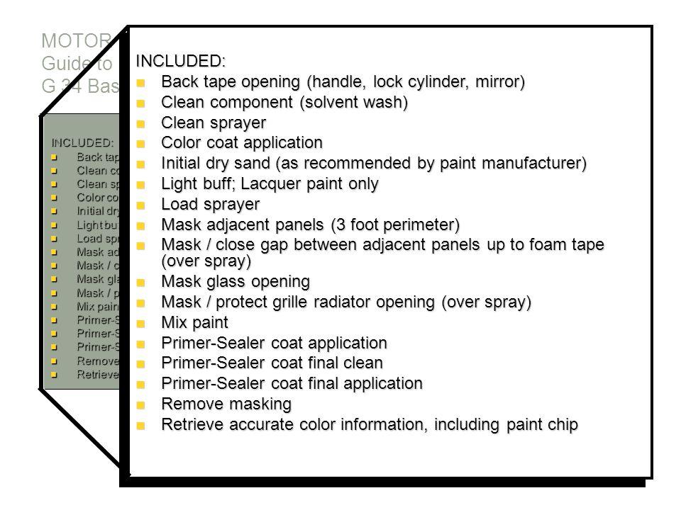 MOTOR Guide to Estimating G 34 Base Coat Application