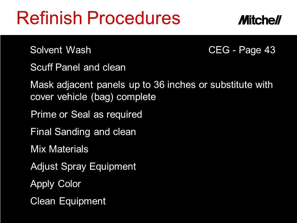 Adjust Spray Equipment