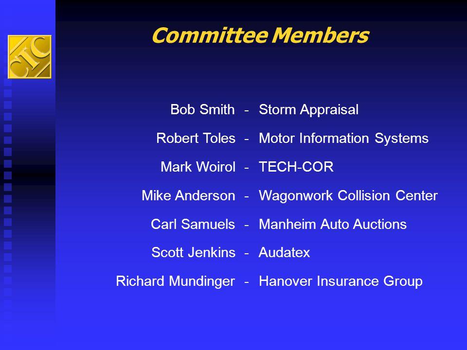 Committee Members Bob Smith - Storm Appraisal Robert Toles -