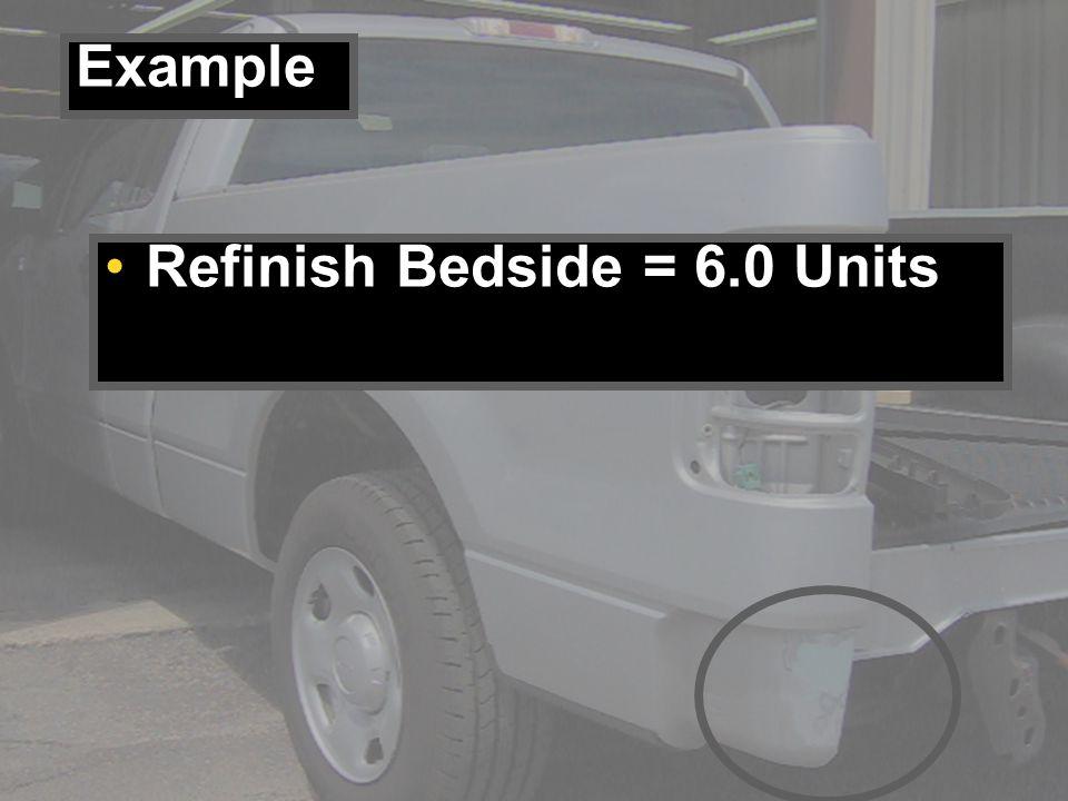 Refinish Bedside = 6.0 Units