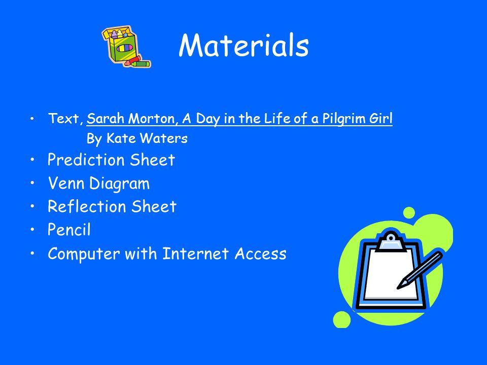 Materials Prediction Sheet Venn Diagram Reflection Sheet Pencil