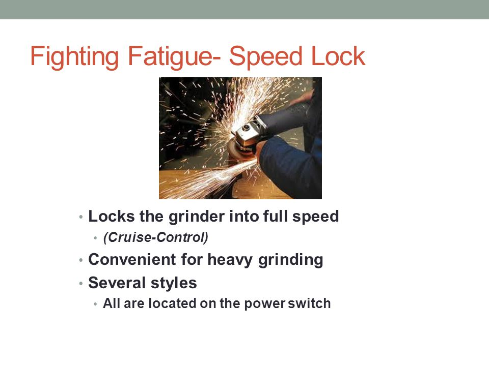 Fighting Fatigue- Speed Lock