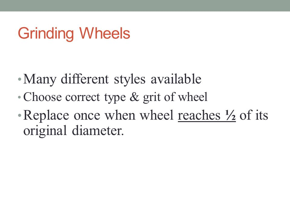 Grinding Wheels Many different styles available