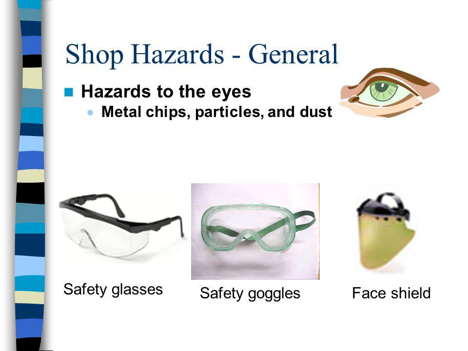 Shop Hazards - General Hazards to the eyes
