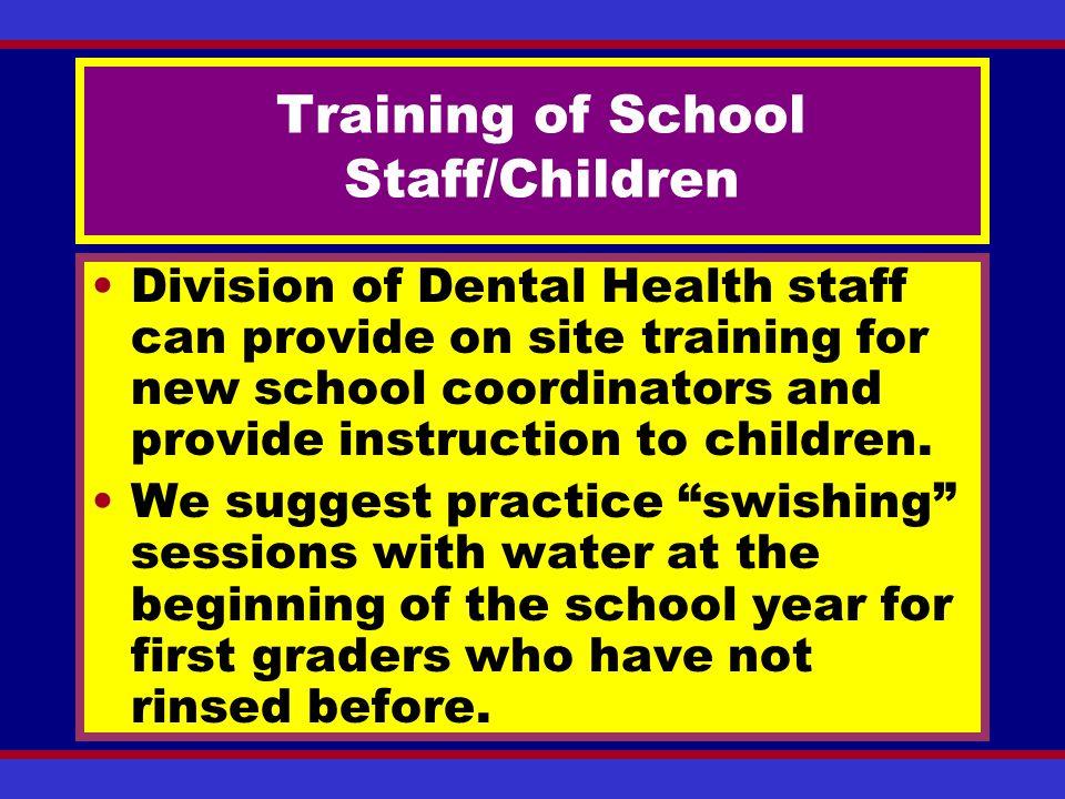 Training of School Staff/Children