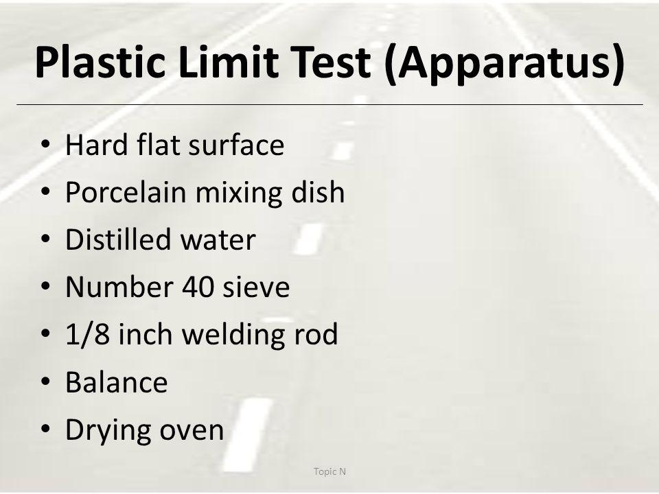 Plastic Limit Test (Apparatus)