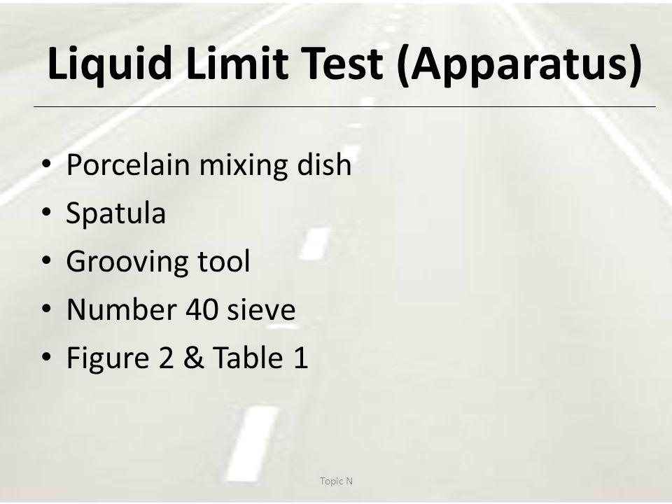 Liquid Limit Test (Apparatus)