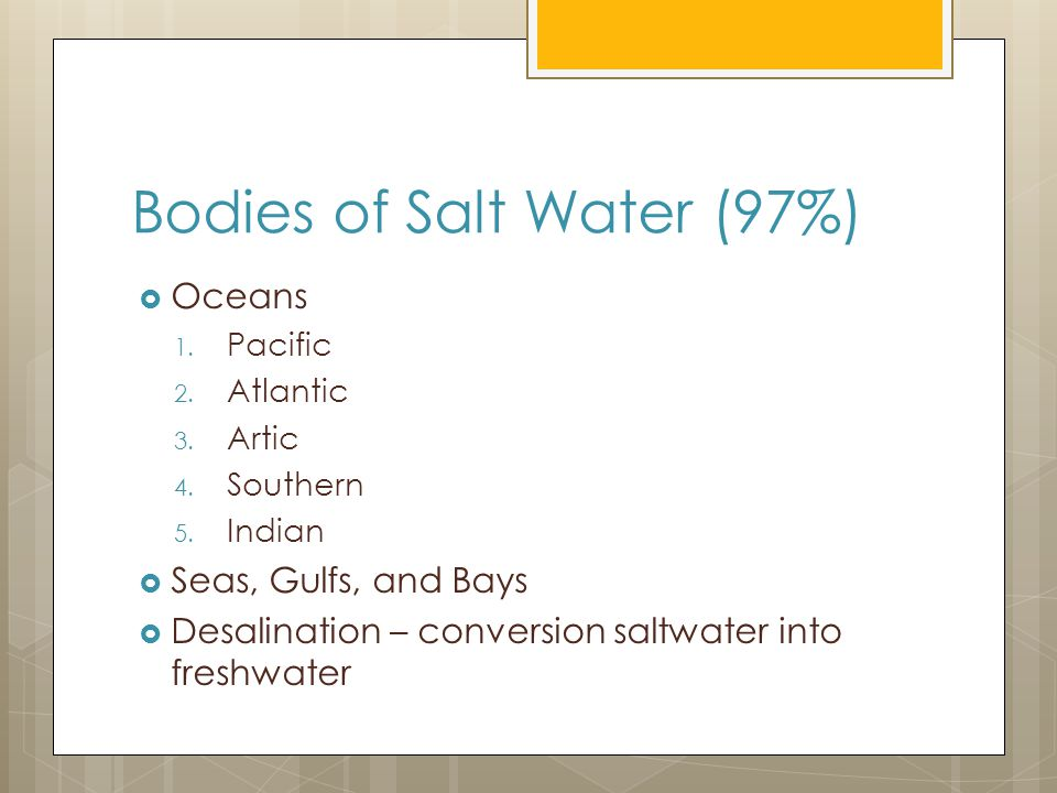 Bodies of Salt Water (97%)