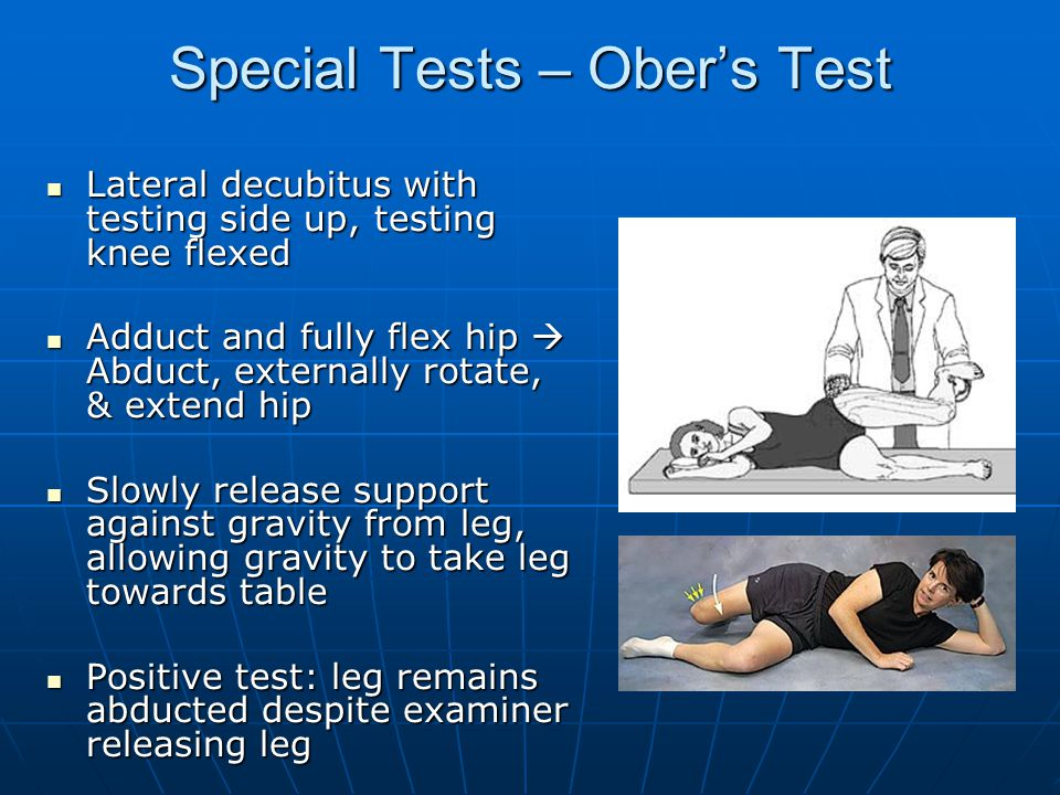 Special Tests – Ober's Test