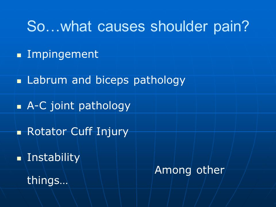 So…what causes shoulder pain