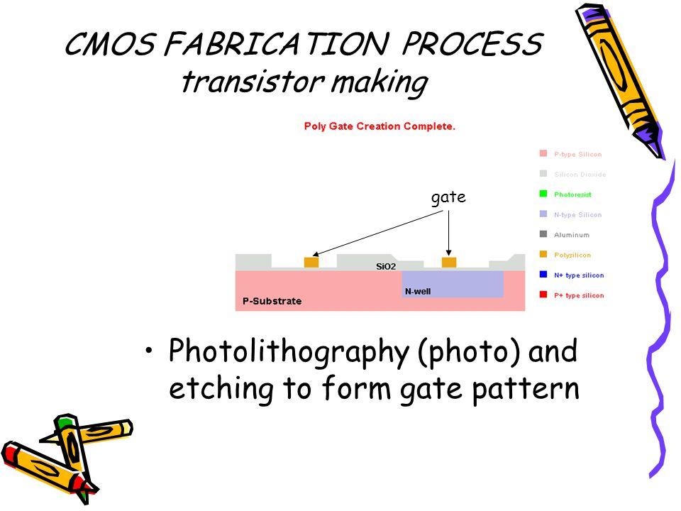 CMOS FABRICATION PROCESS transistor making