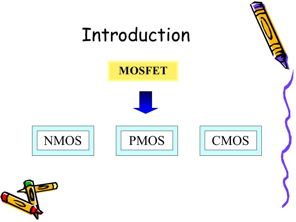 Introduction MOSFET PMOS NMOS CMOS