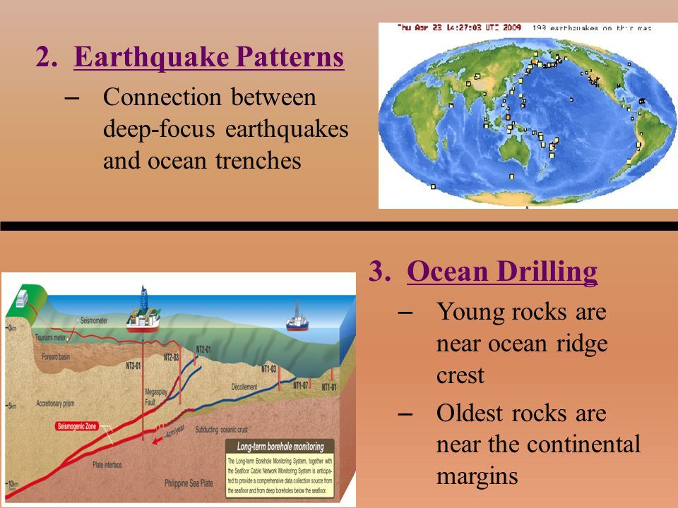 Earthquake Patterns Ocean Drilling