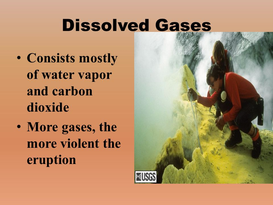 Dissolved Gases Consists mostly of water vapor and carbon dioxide