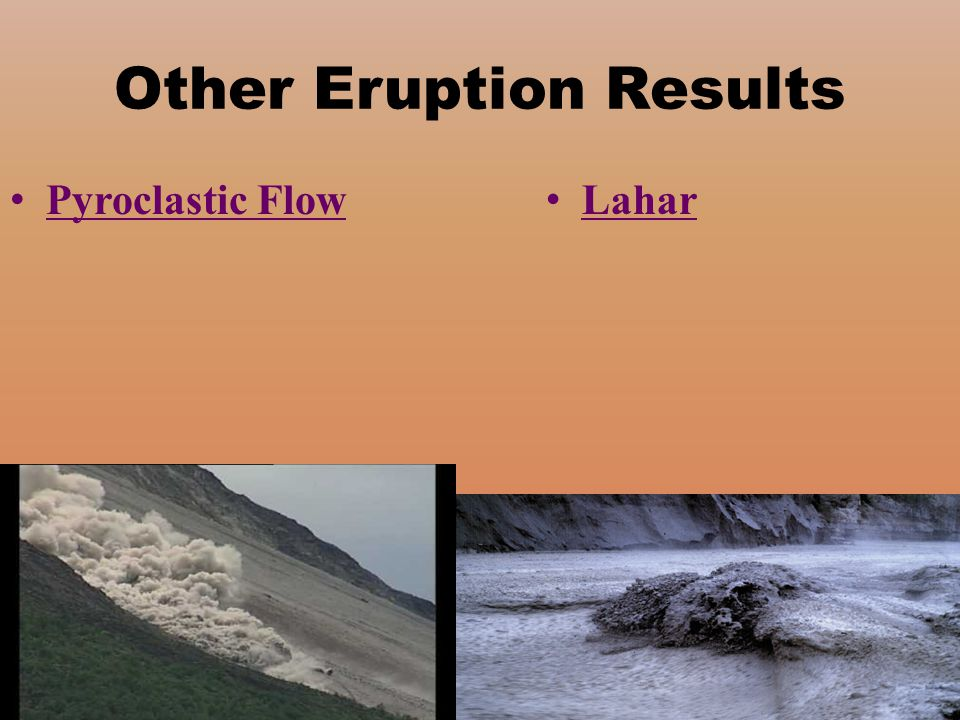 Other Eruption Results