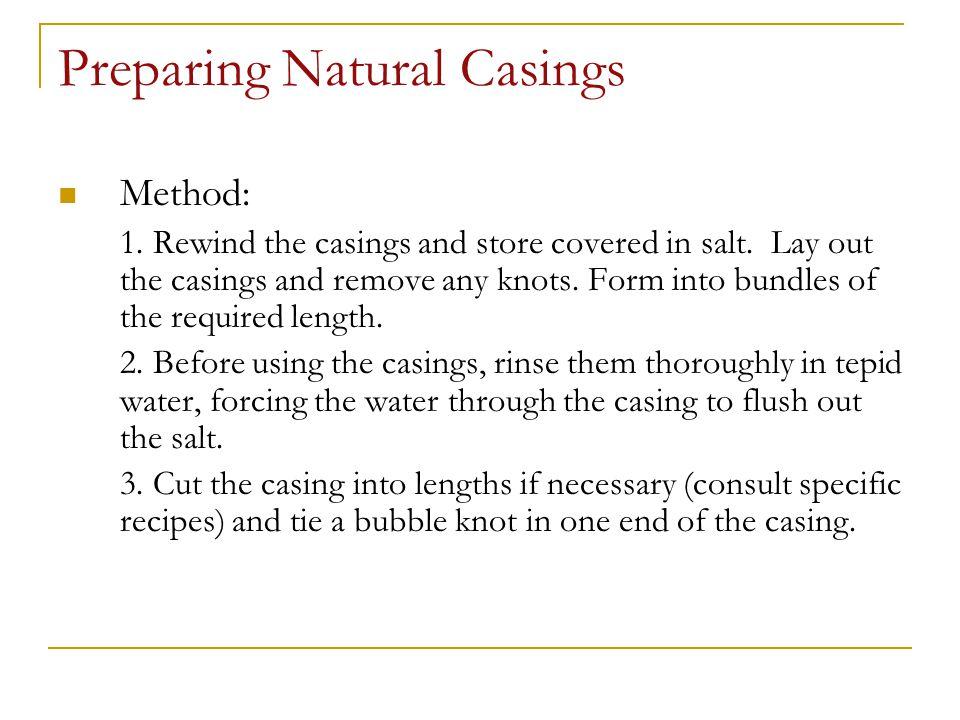 Preparing Natural Casings