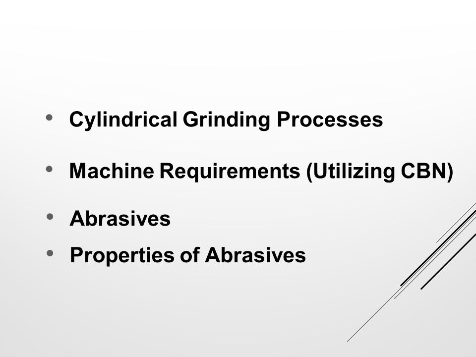 Cylindrical Grinding Processes