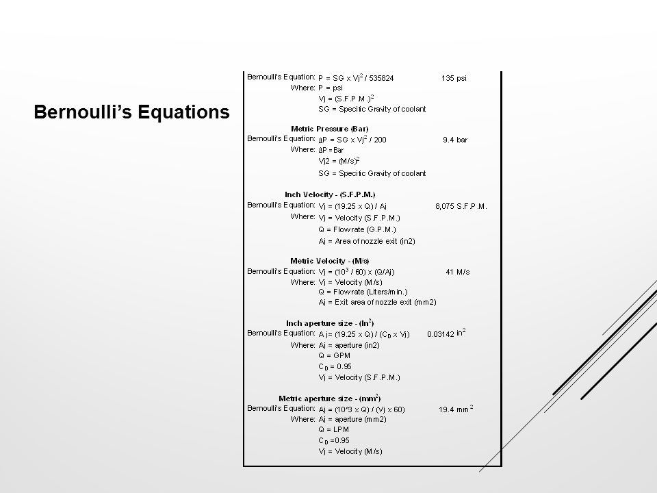 Bernoulli's Equations